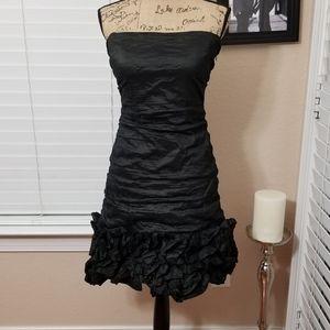 BCBGMAXAZRIA strapless Taffeta cocktail dress